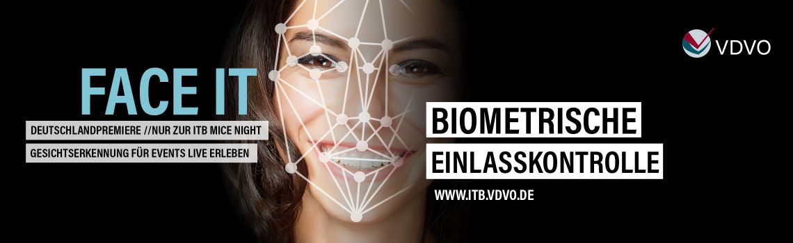 Facial Recognition - Einlass via Gesichtserkennung | Deutschlandpremiere auf der ITB MICE NIGHT